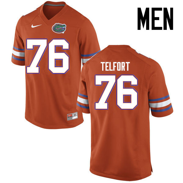 Men Florida Gators #76 Kadeem Telfort College Football Jerseys Sale-Orange